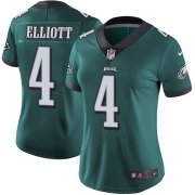 Wholesale Cheap Nike Eagles #4 Jake Elliott Midnight Green Team Color Women's Stitched NFL Vapor Untouchable Limited Jersey