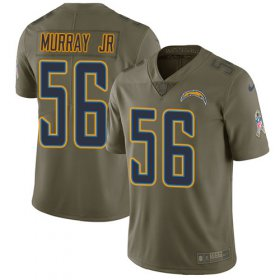 Wholesale Cheap Nike Chargers #56 Kenneth Murray Jr Olive Men\'s Stitched NFL Limited 2017 Salute To Service Jersey