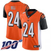 Wholesale Cheap Nike Bengals #24 Vonn Bell Orange Alternate Youth Stitched NFL 100th Season Vapor Untouchable Limited Jersey