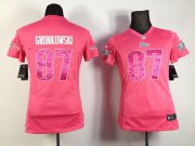 Wholesale Cheap Nike Patriots #87 Rob Gronkowski Pink Sweetheart Women's Stitched NFL Elite Jersey