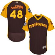 Wholesale Cheap Mets #48 Jacob DeGrom Brown Flexbase Authentic Collection 2016 All-Star National League Stitched MLB Jersey