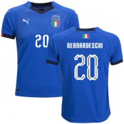 Wholesale Cheap Italy #20 Bernardeschi Home Kid Soccer Country Jersey