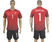 Wholesale Cheap Turkey #1 Babacan Home Soccer Country Jersey