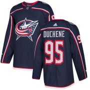 Wholesale Cheap Adidas Blue Jackets #95 Matt Duchene Navy Blue Home Authentic Stitched NHL Jersey