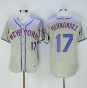 Wholesale Cheap Mets #17 Keith Hernandez Grey Flexbase Authentic Collection Stitched MLB Jersey