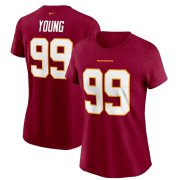 Wholesale Cheap Washington Redskins #99 Chase Young Football Team Nike Women's Player Name & Number T-Shirt Burgundy