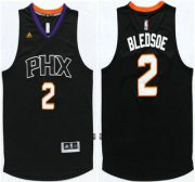 Wholesale Cheap Men's Phoenix Suns #2 Eric Bledsoe Revolution 30 Swingman 2015-16 New Black Jersey