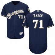 Wholesale Cheap Brewers #71 Josh Hader Navy Blue Flexbase Authentic Collection Stitched MLB Jersey