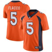 Wholesale Cheap Nike Broncos #5 Joe Flacco Orange Team Color Men's Stitched NFL Vapor Untouchable Limited Jersey