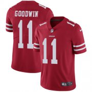 Wholesale Cheap Nike 49ers #11 Marquise Goodwin Red Team Color Youth Stitched NFL Vapor Untouchable Limited Jersey