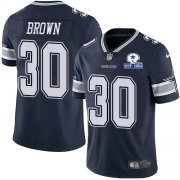 Wholesale Cheap Nike Cowboys #30 Anthony Brown Navy Blue Team Color Men's Stitched With Established In 1960 Patch NFL Vapor Untouchable Limited Jersey