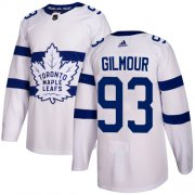Wholesale Cheap Adidas Maple Leafs #93 Doug Gilmour White Authentic 2018 Stadium Series Stitched NHL Jersey