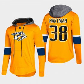 Wholesale Cheap Predators #38 Ryan Hartman Gold 2018 Pullover Platinum Hoodie