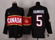 Wholesale Cheap Olympic 2014 CA. #5 Dan Hamhuis Black Stitched NHL Jersey