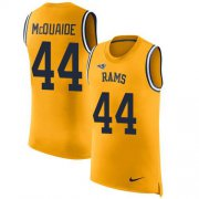 Wholesale Cheap Nike Rams #44 Jacob McQuaide Gold Men's Stitched NFL Limited Rush Tank Top Jersey