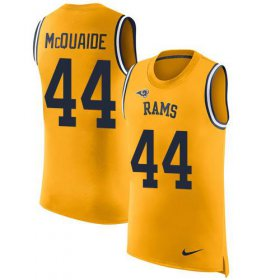 Wholesale Cheap Nike Rams #44 Jacob McQuaide Gold Men\'s Stitched NFL Limited Rush Tank Top Jersey
