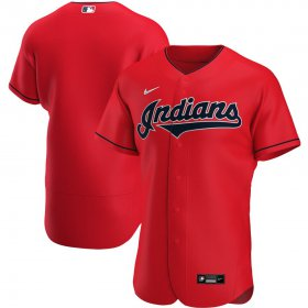 Wholesale Cheap Cleveland Indians Men\'s Nike Red Alternate 2020 Authentic Official Team MLB Jersey