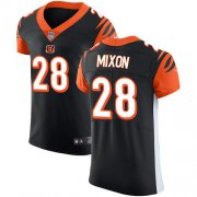 Wholesale Cheap Nike Bengals #28 Joe Mixon Black Team Color Men's Stitched NFL Vapor Untouchable Elite Jersey