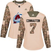 Wholesale Cheap Adidas Avalanche #7 Kevin Connauton Camo Authentic 2017 Veterans Day Women's Stitched NHL Jersey