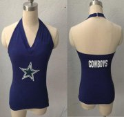 Wholesale Cheap Women's All Sports Couture Dallas Cowboys Blown Coverage Halter Top