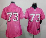 Wholesale Nike Browns #73 Joe Thomas Pink Be Luv'd Women's Stitched NFL New Elite Jersey