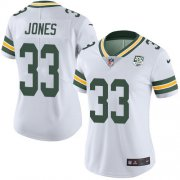 Wholesale Cheap Nike Packers #33 Aaron Jones White Women's 100th Season Stitched NFL Vapor Untouchable Limited Jersey