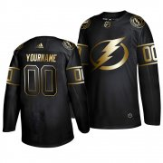 Wholesale Cheap Adidas Lightning Custom Men's 2019 Black Golden Edition Authentic Stitched NHL Jersey