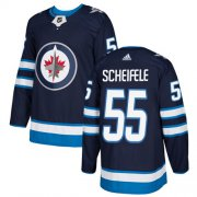 Wholesale Cheap Adidas Jets #55 Mark Scheifele Navy Blue Home Authentic Stitched NHL Jersey