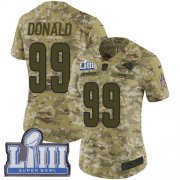 Wholesale Cheap Nike Rams #99 Aaron Donald Camo Super Bowl LIII Bound Women's Stitched NFL Limited 2018 Salute to Service Jersey
