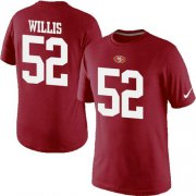 Wholesale Cheap Nike San Francisco 49ers #52 Patrick Willis Pride Name & Number NFL T-Shirt Red