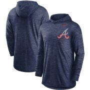 Wholesale Cheap Atlanta Braves Nike Split Logo Performance Long Sleeve Hoodie Top Navy