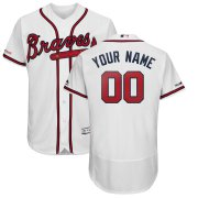 Wholesale Cheap Atlanta Braves Majestic Home 2019 Authentic Collection Flex Base Custom Jersey White