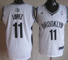 Wholesale Cheap Brooklyn Nets #11 Brook Lopez Revolution 30 Swingman White Jersey