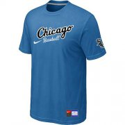 Wholesale Cheap Chicago White Sox Nike Away Practice MLB T-Shirt Indigo Blue