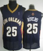 Wholesale Cheap New Orleans Pelicans #25 Austin Rivers Navy Blue Swingman Jersey
