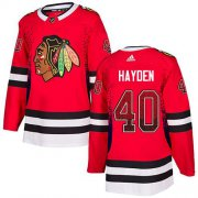 Wholesale Cheap Adidas Blackhawks #40 John Hayden Red Home Authentic Drift Fashion Stitched NHL Jersey