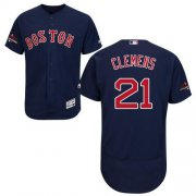 Wholesale Cheap Red Sox #21 Roger Clemens Navy Blue Flexbase Authentic Collection 2018 World Series Champions Stitched MLB Jersey