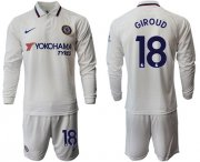 Wholesale Cheap Chelsea #18 Giroud Away Long Sleeves Soccer Club Jersey
