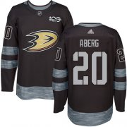 Wholesale Cheap Adidas Ducks #20 Pontus Aberg Black 1917-2017 100th Anniversary Stitched NHL Jersey