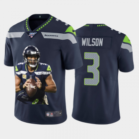 Cheap Seattle Seahawks #3 Russell Wilson Nike Team Hero 2 Vapor Limited NFL 100 Jersey Navy