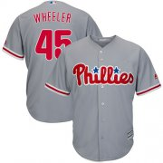 Wholesale Cheap Phillies #45 Zack Wheeler Grey New Cool Base Stitched MLB Jersey
