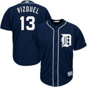 Wholesale Cheap Tigers #13 Omar Vizquel Navy Blue Cool Base Stitched Youth MLB Jersey