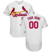 Wholesale Cheap St. Louis Cardinals Majestic Home Flex Base Authentic Collection Custom Jersey White
