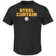 Wholesale Cheap Pittsburgh Steelers Majestic Hot Phrase T-Shirt Black