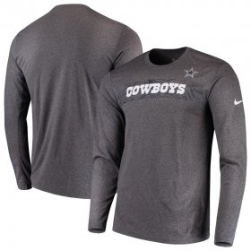 Wholesale Cheap Dallas Cowboys Nike Sideline Seismic Legend Long Sleeve T-Shirt Charcoal