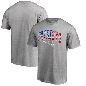 Wholesale Cheap Men\'s New England Patriots Pro Line by Fanatics Branded Heathered Gray Banner Wave T-Shirt