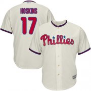 Wholesale Cheap Phillies #17 Rhys Hoskins Cream Cool Base Stitched Youth MLB Jersey