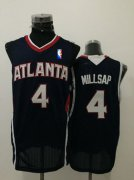 Wholesale Cheap Men's Atlanta Hawks #4 Paul Millsap Navy Blue Swingman Jersey