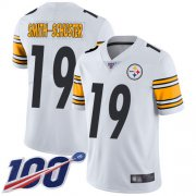 Wholesale Cheap Nike Steelers #19 JuJu Smith-Schuster White Youth Stitched NFL 100th Season Vapor Limited Jersey