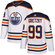 Wholesale Cheap Adidas Oilers #99 Wayne Gretzky White Road Authentic Stitched Youth NHL Jersey